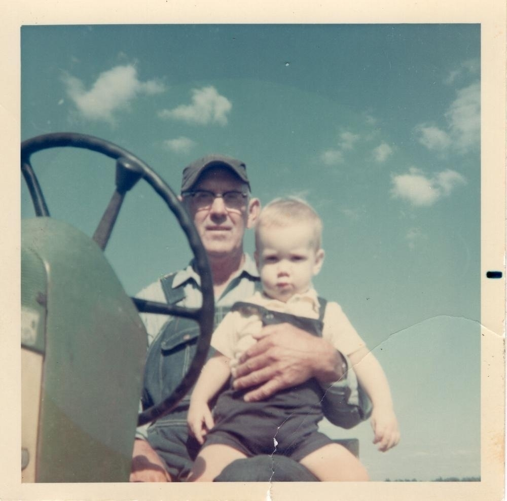A Photo Of My Grandfather And Me From 1968